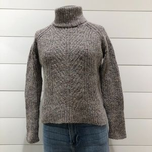 Madewell Confetti Spot Chunky Turtleneck Sweater